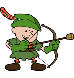 Robin hood illustration vector