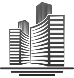 Moderd buildings real estate symbol vector