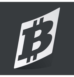 Monochrome bitcoin sticker vector
