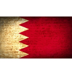 Flags bahrain with dirty paper texture vector