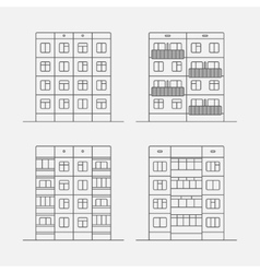 Panel houses linear1 vector