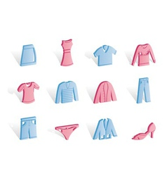 Clothing internet icons vector