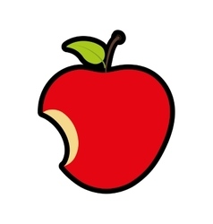 Apple icon fruit design graphic vector
