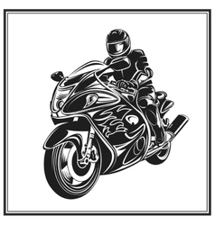 Biker riding a motorcycle  bikers event or vector