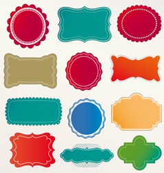 frame labels Set vintage vector image