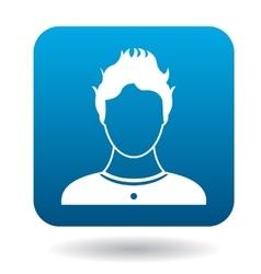 Avatar teen boy icon simple style vector