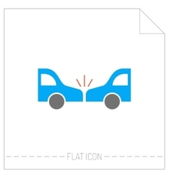 Accident of car silhouette color icon vector