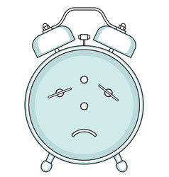Alarm clock backside vector