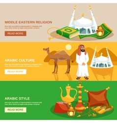 Arabic Culture Banner Set vector image
