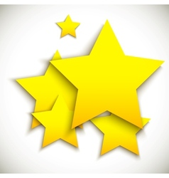 Background with yellow stars vector image