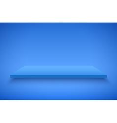 Blue Presentation platform vector image