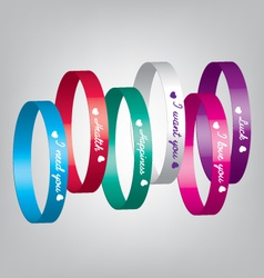 bracelets color vector image vector image