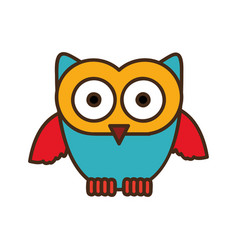 Color stylized owl icon vector