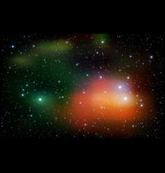 Colorful universe filled with stars nebula and vector