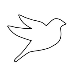 dove bird silhouette icon vector image vector image