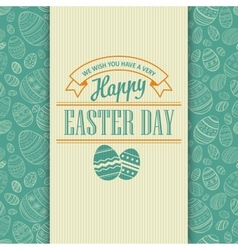 Easter greeting card Holiday typography vector image vector image