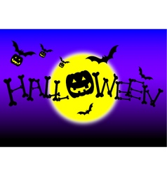 Halloween day night vector