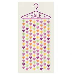 Hanger with heart garland sale banner vector