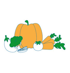 isolated cute vegetables vector image vector image