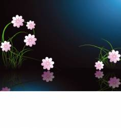 midnight flower background vector image vector image