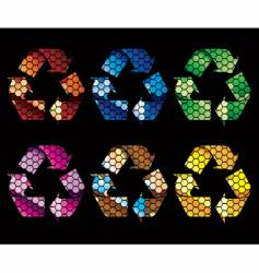 mosaic recycle icons vector image