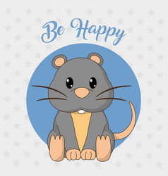Mouse cartoon design vector