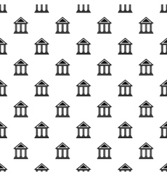 Museum building pattern simple style vector