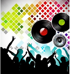 Night party backgroung vector