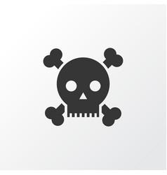 poison icon symbol premium quality isolated skull vector image