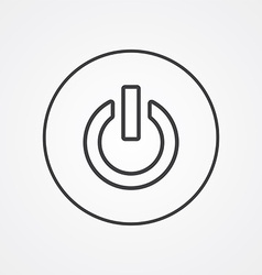 power on outline symbol dark on white background vector image