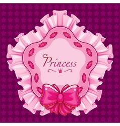 princess star pillow pink vector image