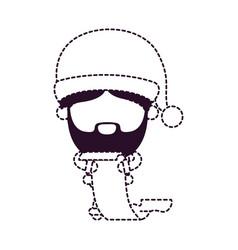 santa claus faceless cartoon holding gift list in vector image