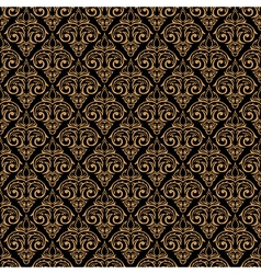 seamless baroque damask luxury golden background vector image vector image