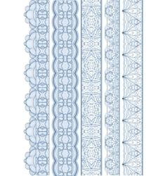 Seamless linear wavy border vector