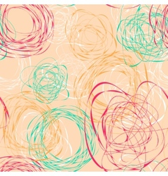 Seamless pattern with abstract funny scribbles vector image vector image