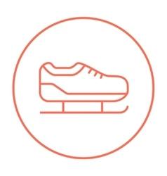 Skate line icon vector