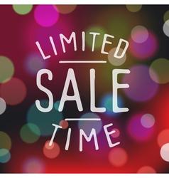 slogan bokeh sale limited vector image vector image