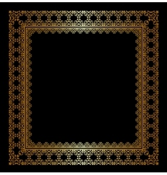 Stylish golden frame vector image