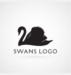 Swan logo sign emblem-04 vector