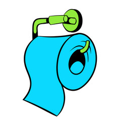 Toilet paper icon icon cartoon vector