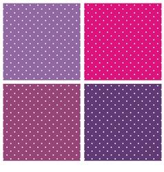 Violet blue and pink polka dots background set vector image