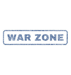 war zone textile stamp vector image vector image