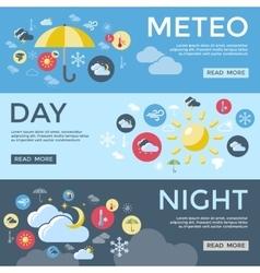 Weather forecast banner set vector