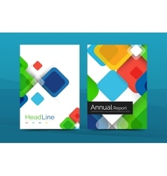 Business a4 annual report design vector
