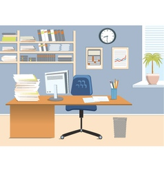 Interior office room vector image
