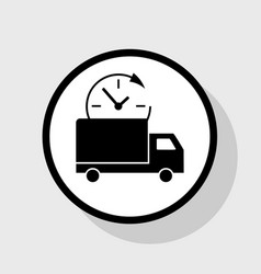 delivery sign   flat black vector image