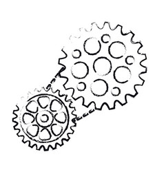 Bike gears icon vector