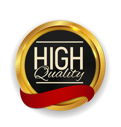 High quality golden medal icon seal sign isolate vector