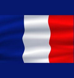 Flag of france waving in the wind 3d vector