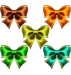 Festive bows with golden edging vector